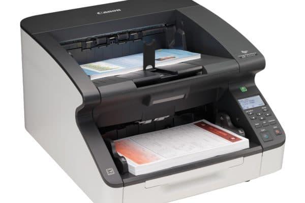 Kleiner Drucker Kopierer von Canon mit zwei Fächern.